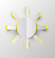 Sun Paper Cut vector image vector image