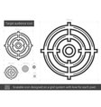 Target audience line icon vector image vector image