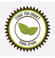 think green isolated icon design vector image vector image