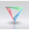triangle infographic vector image