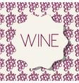 wine grape fruit background vector image vector image