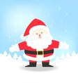 Santa Claus for Christmas vector image