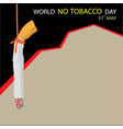 world no tobacco day background with copy space vector image