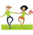 Happy together vector image