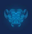 monkey head icon line art vector image