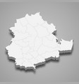 3d isometric map pirkanmaa is a region of vector image vector image