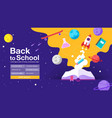 back to school book web banner poster flat vector image vector image