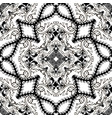 baroque black and white floral seamless pattern vector image vector image