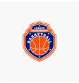 basketball club badge logo-4 vector image vector image