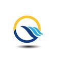 beach sport logo vector image vector image