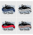 best friends and friendship logo or banner design vector image vector image