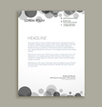 black dots corporate letterhead design vector image vector image