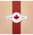 Canada Day national Tag with red Ribbon vector image vector image