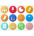 circle icons for outsource vector image