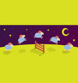 count lambs and rams for sleep baa-lamb jump vector image vector image