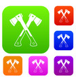 crossed axes set collection vector image vector image