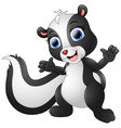 cute skunk cartoon waving hand vector image vector image