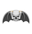 dead skull with small horn and has the vector image vector image