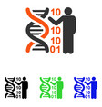 dna code report flat icon vector image