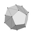 dodecahedron geometry shape vector image vector image