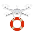 Drone and lifeline Insulated vector image vector image