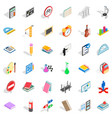 education icons set isometric style vector image vector image