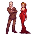 elegant man and women vector image vector image