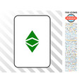 ethereum classic card with bonus vector image vector image