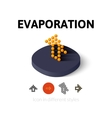 Evaporation icon in different style vector image vector image