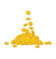 falling gold chinese yuan or japanese yen cartoon vector image vector image
