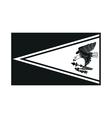 flag of american samoa monochrome on white