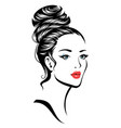 girl with hairdress vector image
