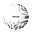 halftone circle abstract frame circular dots logo vector image vector image