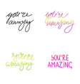 handwriting words vector image