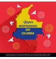 happy independence day colombia banner vector image vector image
