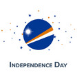 independence day of marshall islands patriotic vector image vector image