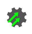industry 40 gear icon cogwheel sign industry 40 vector image vector image