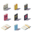 isometric low poly books vector image