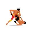 Martial Arts sign Cartoon vector image vector image