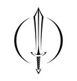 metal sword cartoon icon vector image vector image