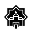 mosque star ramadan related solid icon vector image vector image