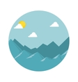 mountain emblem isolated icon vector image vector image
