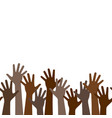 multicultural crowd protest symbol black vector image vector image