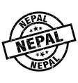 nepal black round grunge stamp vector image vector image