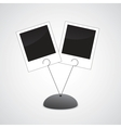 Photo holder with two photos vector image vector image