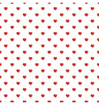 red heart on white background useful how pattern vector image vector image