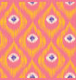 retro ikat colorful pattern vector image