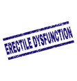 scratched textured erectile dysfunction stamp seal vector image