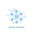 service provider line concept simple line icon vector image vector image