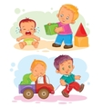 Set of icons small children vector image